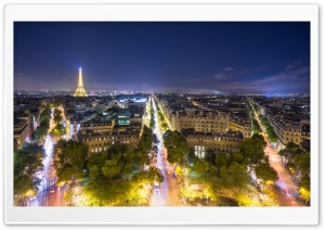 Boulevards of Paris HD Wide Wallpaper for 4K UHD Widescreen desktop & smartphone