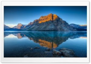 Bow Lake In Summer HD Wide Wallpaper for Widescreen