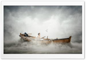 Boy, Boat, Travel, Sea, Mist Ultra HD Wallpaper for 4K UHD Widescreen desktop, tablet & smartphone