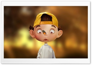 Boy Illustration HD Wide Wallpaper for Widescreen