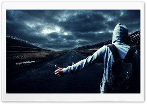 Boy on the Road HD Wide Wallpaper for 4K UHD Widescreen desktop & smartphone