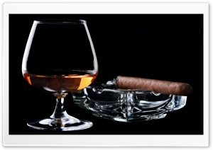 Brandy And Cigar HD Wide Wallpaper for Widescreen