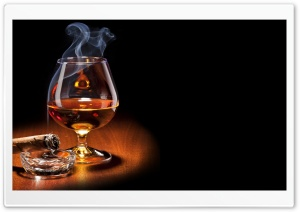 Brandy Glass HD Wide Wallpaper for Widescreen