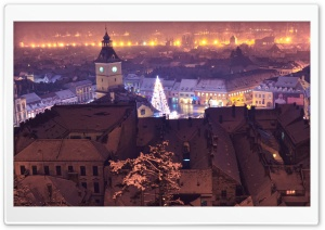 BRASOV by NIGHT HD Wide Wallpaper for Widescreen
