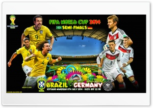 BRAZIL - GERMANY SEMI-FINALS WORLD CUP 2014 HD Wide Wallpaper for Widescreen