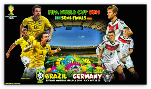 BRAZIL - GERMANY SEMI-FINALS WORLD CUP 2014 ❤ 4K UHD Wallpaper for 4K UHD 16:9 Ultra High Definition 2160p 1440p 1080p 900p 720p ; Mobile 16:9 - 2160p 1440p 1080p 900p 720p ;