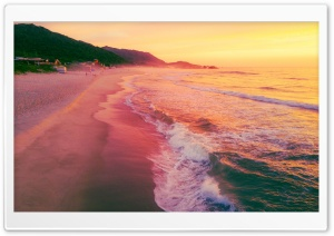 Brazilian Beach Sunrise HD Wide Wallpaper for 4K UHD Widescreen desktop & smartphone