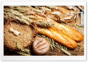Bread And Wheat Food HD Wide Wallpaper for Widescreen