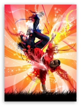 Break Dance Colorful HD wallpaper for Mobile 4:3 - UXGA XGA SVGA ;