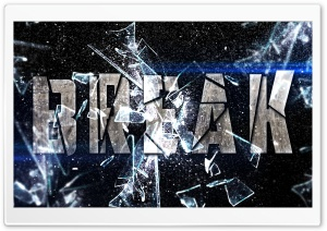 Break Text Effect HD Wide Wallpaper for Widescreen