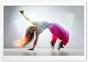Breakdance Girl HD Wide Wallpaper for Widescreen