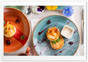 Breakfast Cheesecake Ultra HD Wallpaper for 4K UHD Widescreen desktop, tablet & smartphone
