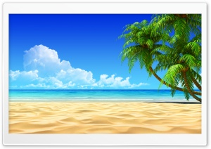 Breath Taking Tropical Beach HD Wide Wallpaper for Widescreen
