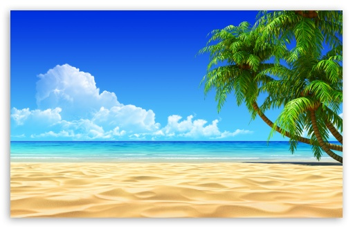Hd Tropical Island Beach Paradise Wallpapers And Backgrounds: Breath Taking Tropical Beach 4K HD Desktop Wallpaper For