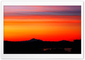 Breathtaking Sunrise Colours Over Mt Baker HD Wide Wallpaper for Widescreen