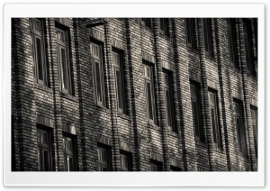Brick Building Monochrome HD Wide Wallpaper for Widescreen