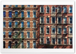 Bricks and Fire Escapes HD Wide Wallpaper for 4K UHD Widescreen desktop & smartphone