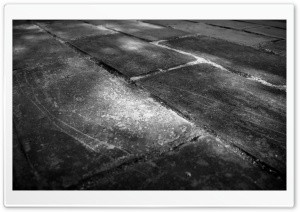 Bricks Wall Black And White HD Wide Wallpaper for Widescreen