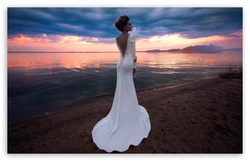 Download Bride, Beach Wedding HD Wallpaper