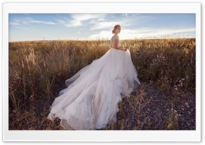 Bride, Field, Landscape, Nature, Outdoor HD Wide Wallpaper for 4K UHD Widescreen desktop & smartphone