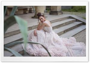 Bride in a Beautiful Dress, Stairs Ultra HD Wallpaper for 4K UHD Widescreen desktop, tablet & smartphone