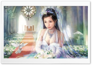 Bride Painting HD Wide Wallpaper for Widescreen