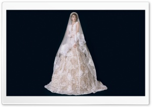 Bride, Vintage Inspired Wedding Dress Ultra HD Wallpaper for 4K UHD Widescreen desktop, tablet & smartphone