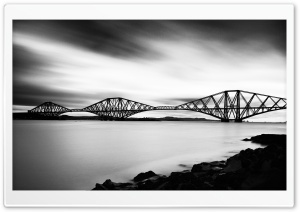 Bridge Black and White Ultra HD Wallpaper for 4K UHD Widescreen desktop, tablet & smartphone
