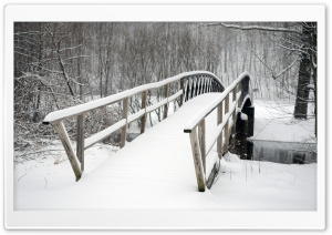 Bridge Covered In Snow HD Wide Wallpaper for 4K UHD Widescreen desktop & smartphone
