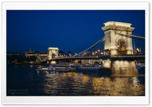 Bridge in Budapest HD Wide Wallpaper for 4K UHD Widescreen desktop & smartphone