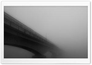 Bridge In Fog HD Wide Wallpaper for Widescreen