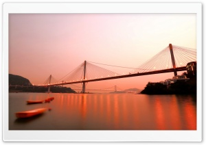 Bridge In Hong Kong HD Wide Wallpaper for Widescreen