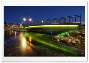 Bridge In Iceland HD Wide Wallpaper for 4K UHD Widescreen desktop & smartphone