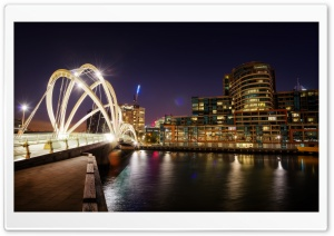 Bridge in Melbourne HD Wide Wallpaper for 4K UHD Widescreen desktop & smartphone