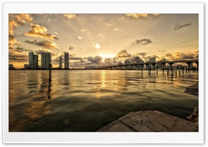 Bridge In Miami HD Wide Wallpaper for 4K UHD Widescreen desktop & smartphone