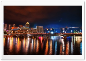 Bridge In Singapore HD Wide Wallpaper for Widescreen