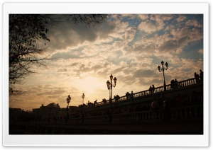 Bridge In The Sunset HD Wide Wallpaper for Widescreen