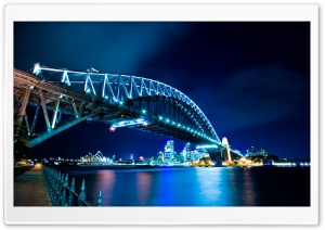 Bridge, Night HD Wide Wallpaper for Widescreen