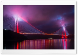 Bridge, Night Lights Ultra HD Wallpaper for 4K UHD Widescreen desktop, tablet & smartphone