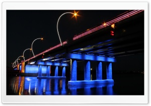 Bridge Over Venta River HD Wide Wallpaper for Widescreen