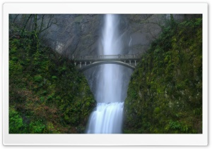 Bridge Over Waterfall HD Wide Wallpaper for 4K UHD Widescreen desktop & smartphone