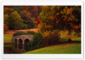 Bridge, Stourhead, Wiltshire, United Kingdom HD Wide Wallpaper for Widescreen