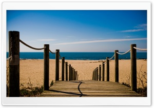 Bridge Towards The Beach HD Wide Wallpaper for Widescreen
