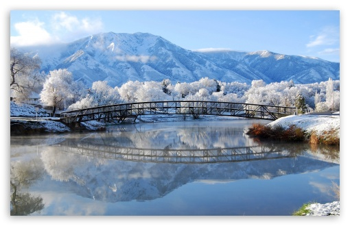 bridge winter 4k hd desktop wallpaper for 4k ultra hd tv