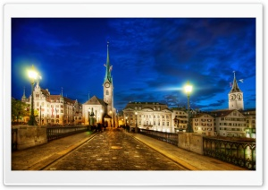 Bridges In Zurich HD Wide Wallpaper for Widescreen