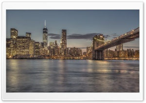 Bright Lights New York City HD Wide Wallpaper for Widescreen