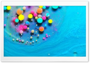 Bright Vibrant Colors Paint Bubbles HD Wide Wallpaper for 4K UHD Widescreen desktop & smartphone
