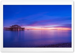 Brighton Pier Sunset HD Wide Wallpaper for Widescreen