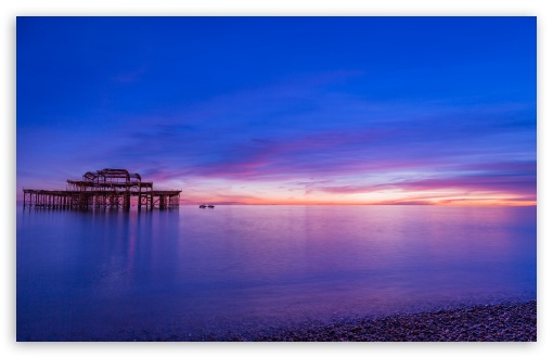 Download Brighton Pier Sunset Wallpaper