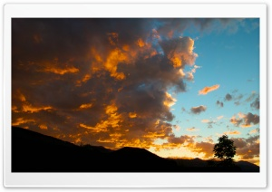 Brilliant Sunset Over Colorado HD Wide Wallpaper for 4K UHD Widescreen desktop & smartphone